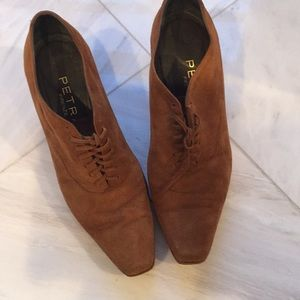 Shoes - Italian Suede shoes  gently worn size 6 1/2